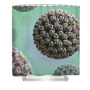 Rotavirus Shower Curtain