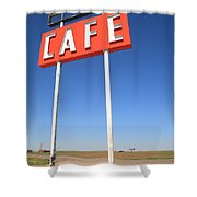 Route 66 Cafe Shower Curtain