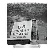 Route 66 Drive-in Theatre Shower Curtain