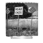 Route 66 - End Of The Road Shower Curtain