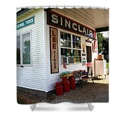 Route 66 Filling Station Shower Curtain