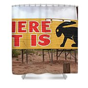 Route 66 - Jack Rabbit Trading Post Shower Curtain