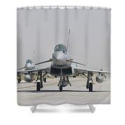 Royal Air Force Ef-2000 Typhoon Shower Curtain