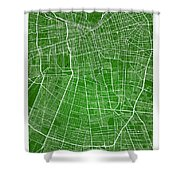Santiago Street Map - Santiago Chile Road Map Art On Colored Bac Shower Curtain