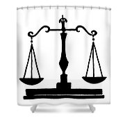 Scales Of Justice Shower Curtain