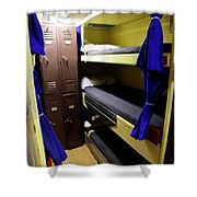 Seaman Lockers And Bunks Aboard Uss Shower Curtain