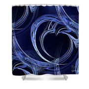 Seamless Background Fractal Shower Curtain