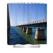 Seven Mile Bridge Florida Keys Shower Curtain