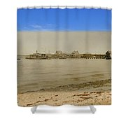 Shaw's Wharf At Sakonnet Point In Little Compton Rhode Island Shower Curtain