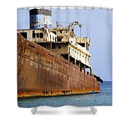 Shipwreck On Lanzarote Shower Curtain