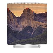 3 Sisters Canmore Alberta Shower Curtain