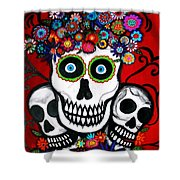 3 Skulls Shower Curtain