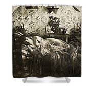 Sleeping Woman, C1900 Shower Curtain