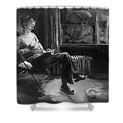 Solitude Shower Curtain by Diane Kraudelt