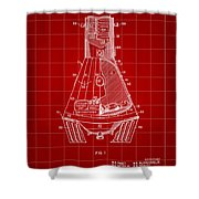 Space Capsule Patent 1959 - Red Shower Curtain