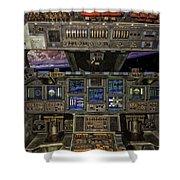 Space Shuttle Cockpit Shower Curtain