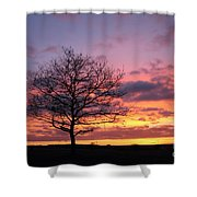 Spectacular Sunset Epsom Downs Surrey Uk Shower Curtain