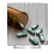 Spilled Medication Shower Curtain