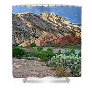Spring Storm Over Split Mountain Dinosaur National Monument Shower Curtain