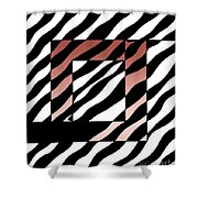 3 Squares With Ripples Shower Curtain