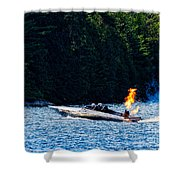 Squirt 2 Turbine Jet Boat Shower Curtain