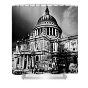 St Pauls Cathedral London Art Shower Curtain by David Pyatt