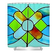 Stained Glass Window Shower Curtain by Janette Boyd