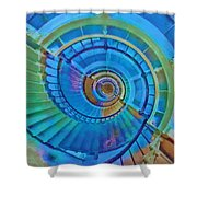 Stairway To Lighthouse Heaven Shower Curtain