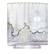 Statue Of Angel Of Peace Atop The Wellington Arch Shower Curtain