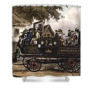 Steam Carriage Shower Curtain