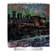 Steam Locomotive Shower Curtain by Gunter Nezhoda