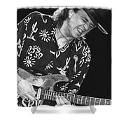 Guitarist Stevie Ray Vaughan Shower Curtain