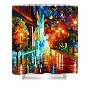 Street Of Hope Shower Curtain by Leonid Afremov