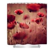 Summer Poppy Shower Curtain