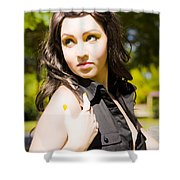 Summer Woman Shower Curtain