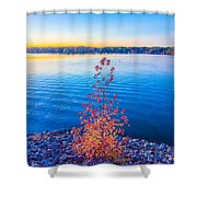 Sunset At Lake Wylie Shower Curtain