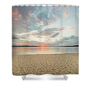 Sunset On South Bay, Lake Superior Shower Curtain