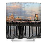 Sunset Over St Pauls Cathedral London Shower Curtain
