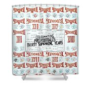Superbowl Poster Shower Curtain