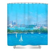 Sydney Harbour And The Opera House By Jan Matson Shower Curtain