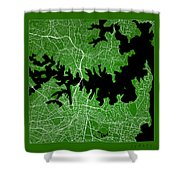 Sydney Street Map - Sydney Australia Road Map Art On Color Shower Curtain