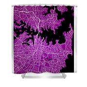 Sydney Street Map - Sydney Australia Road Map Art On Colored Bac Shower Curtain