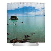 Tasman Sea At West Coast Of South Island Of Nz Shower Curtain