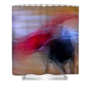 Tauromaquia Abstract Bull-fights In Spain Shower Curtain by Guido Montanes Castillo