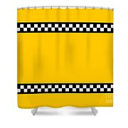 Taxi Background Shower Curtain