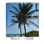 The Beach In Hollywood Florida Shower Curtain