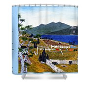 The Clothesline Shower Curtain