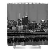 The Empire State Building Pastels Shower Curtain