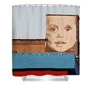 The Face Shower Curtain
