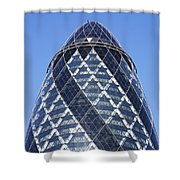 The Gherkin Building In London England Shower Curtain